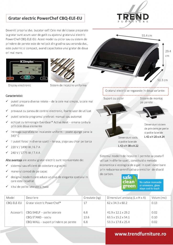 Fisa tehnica Gratar electric PowerChef CBQ-ELE-EU - by TRENDfurniture