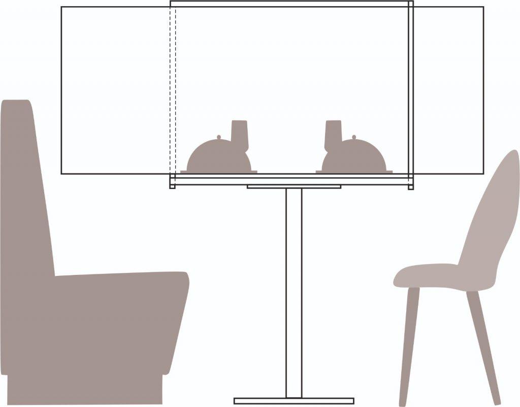 desen tehnic separator plexiglas masa