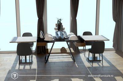 concept masa restaurant pentru distantarea sociala