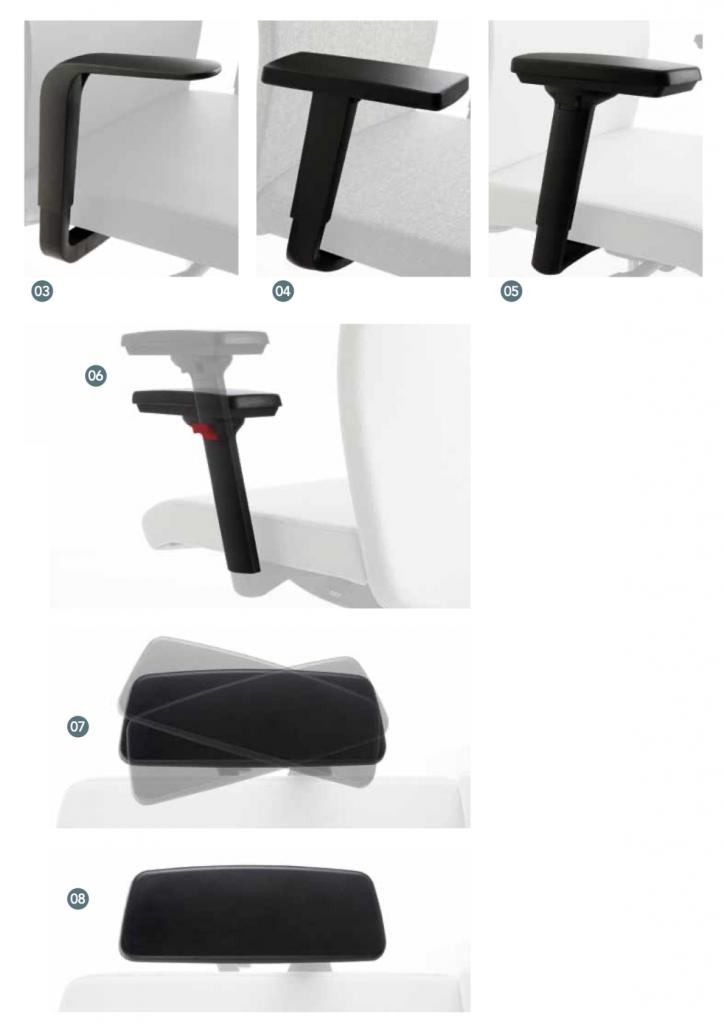 scaun birou ajustare brate